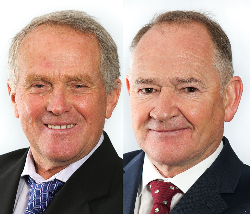 portrait of 2 commissioners of Poole harbour
