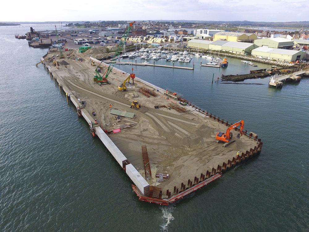 Ballast area in Poole Quay