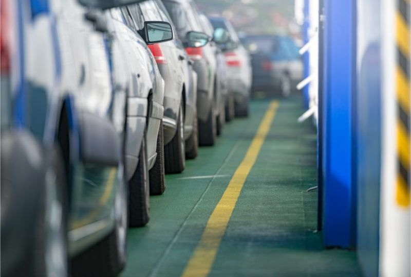 a queue of cars