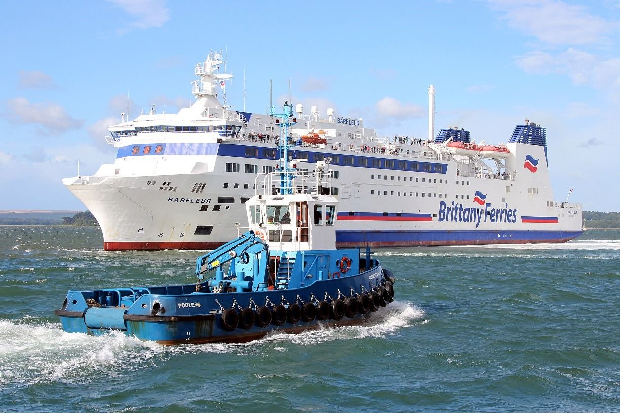 Photo of the Brittany Ferry at brownsea island in Poole