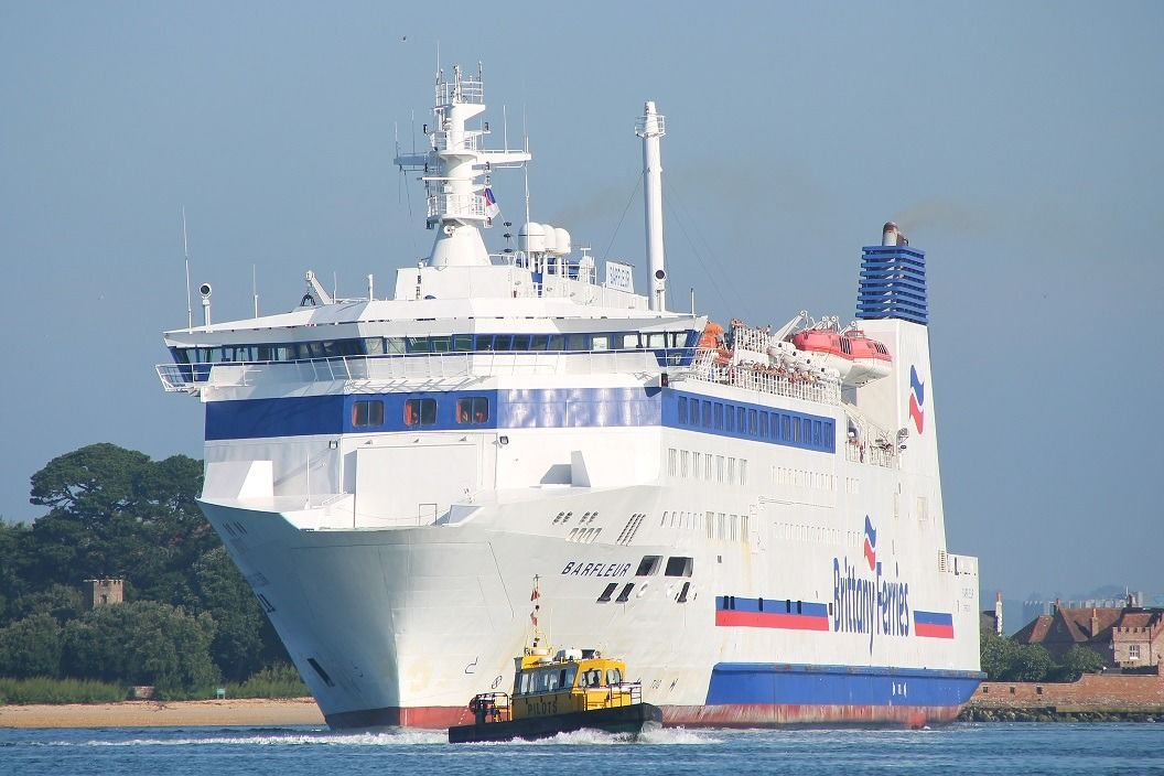 Photo of the Brittany Ferry at brownsea island