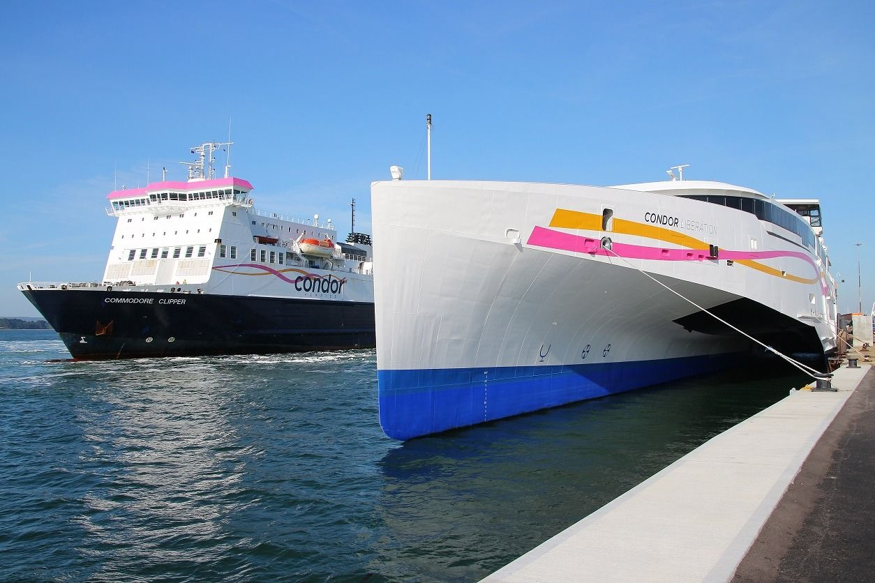 Condor Ferries at land in poole