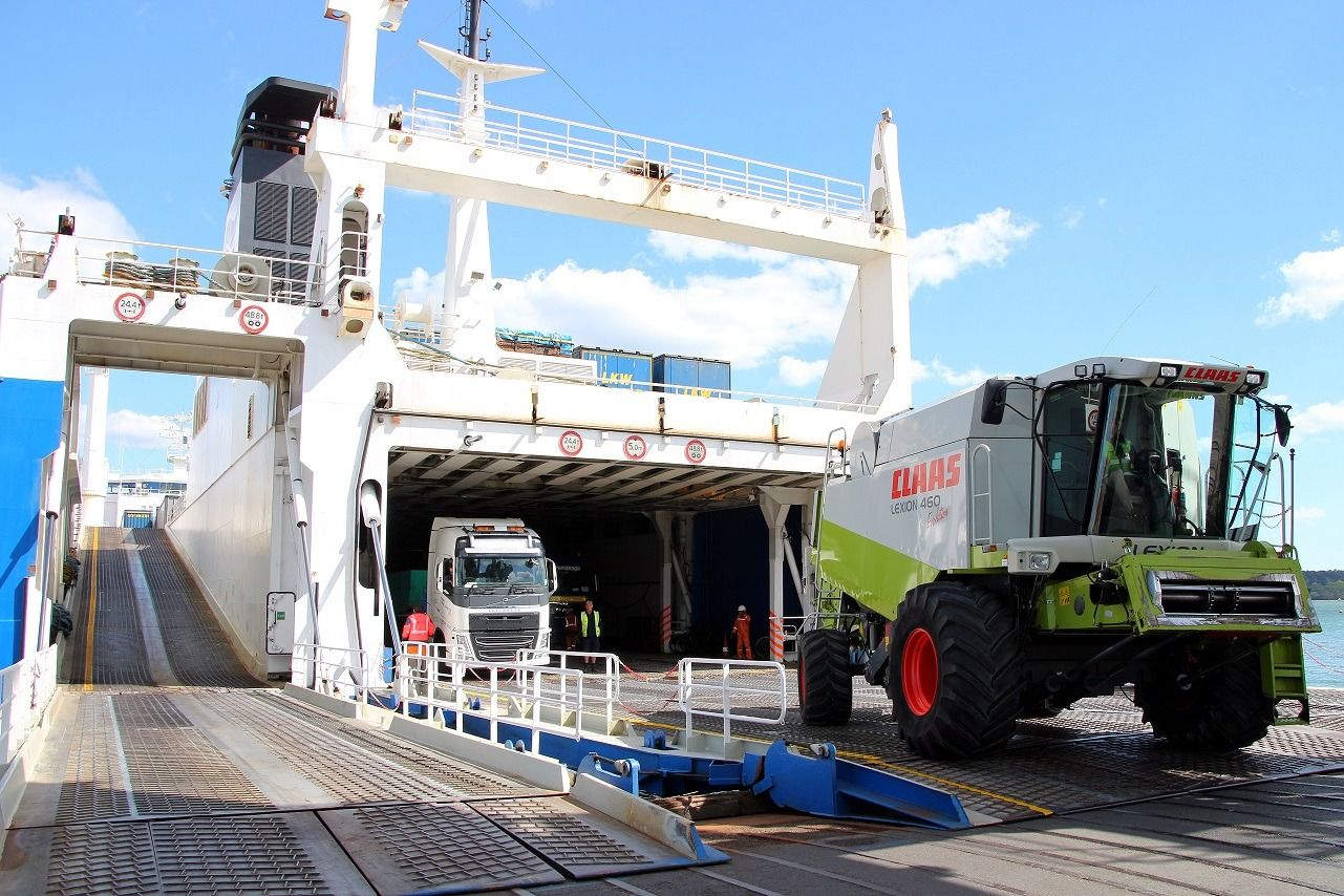 cargo Ferry in Poole