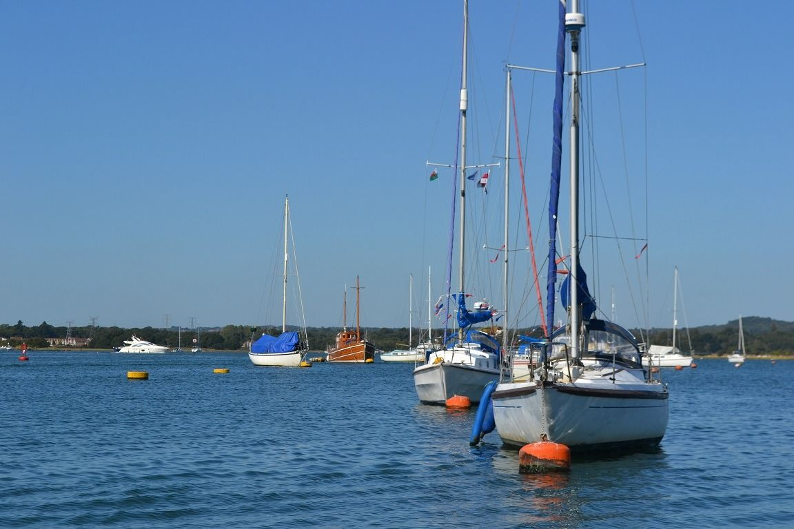 photo of parked yachts in Poole