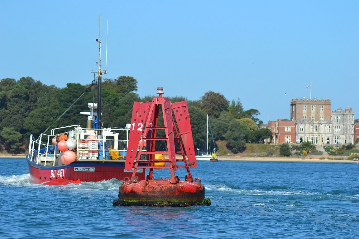 navigational signs in Poole Harbour
