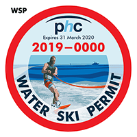 water ski permit sticker
