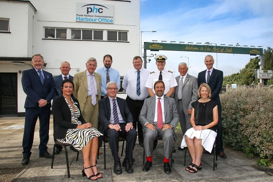 Group photo of the Poole Harbour Commissioners.