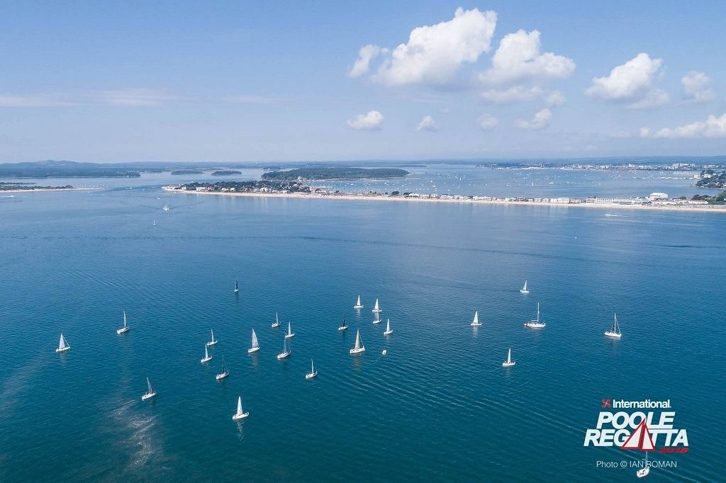 Birdseye view of the Poole Harbour